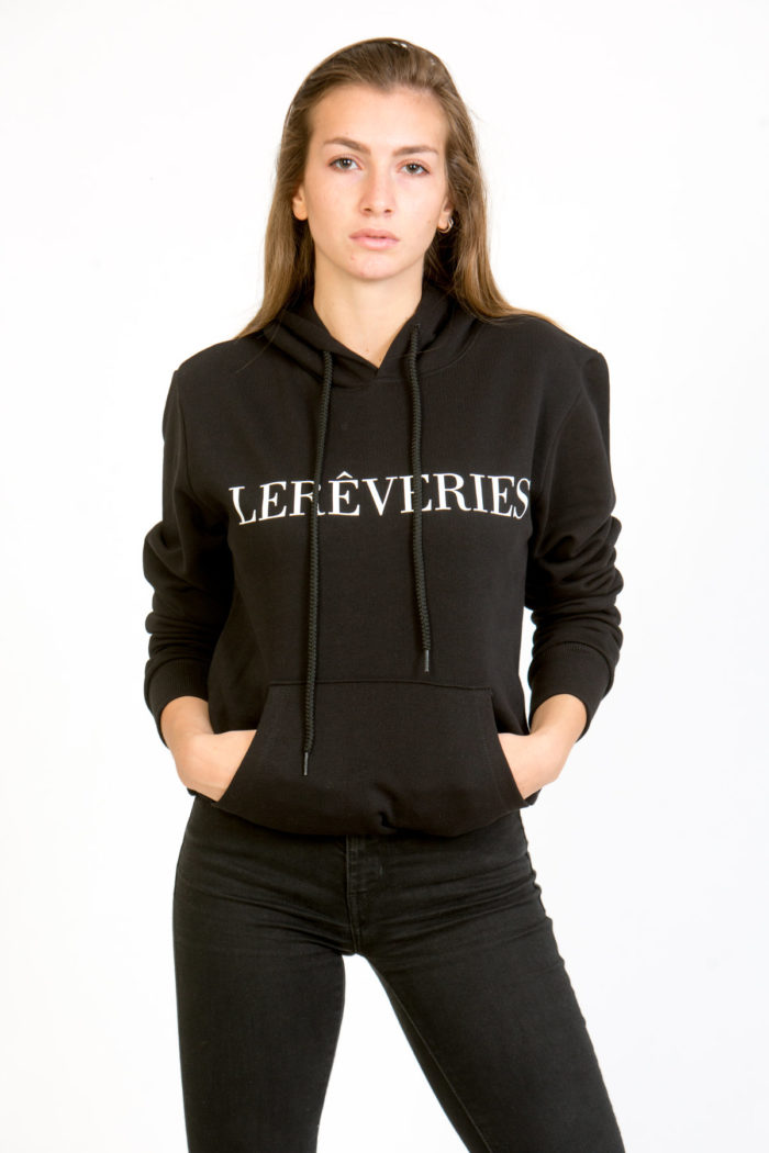 LERÊVERIES - Felpa con Cappuccio Donna LERÊVERIES Colore Nero - A