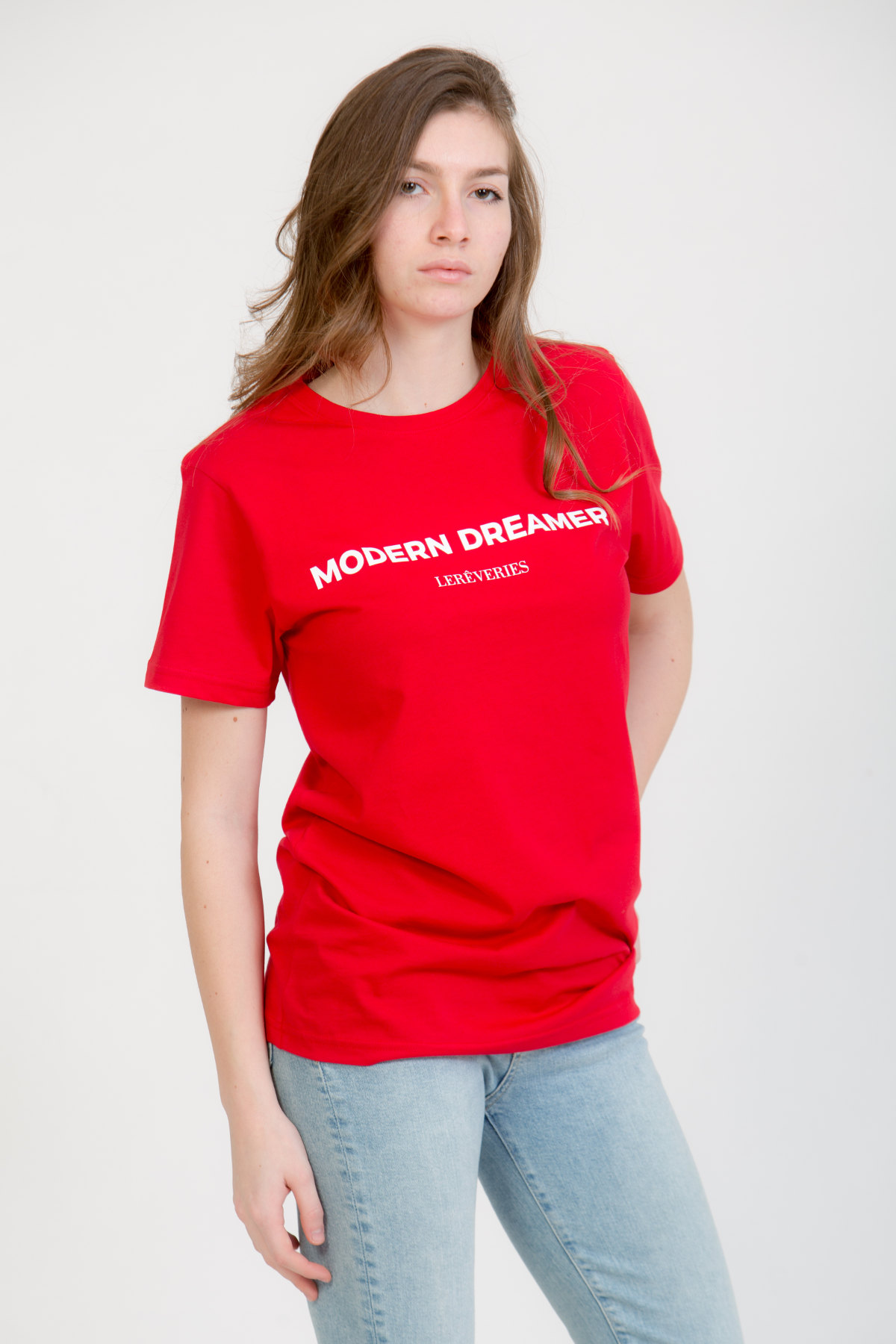 LERÊVERIES - T-shirt Donna Modern Dreamer Colore Rosso - A