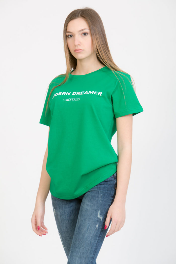 LERÊVERIES - T-shirt Donna Modern Dreamer Colore Verde - A