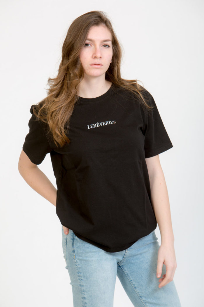 LERÊVERIES - T-shirt Donna Oversize Logo RÊV Colore Nero - A