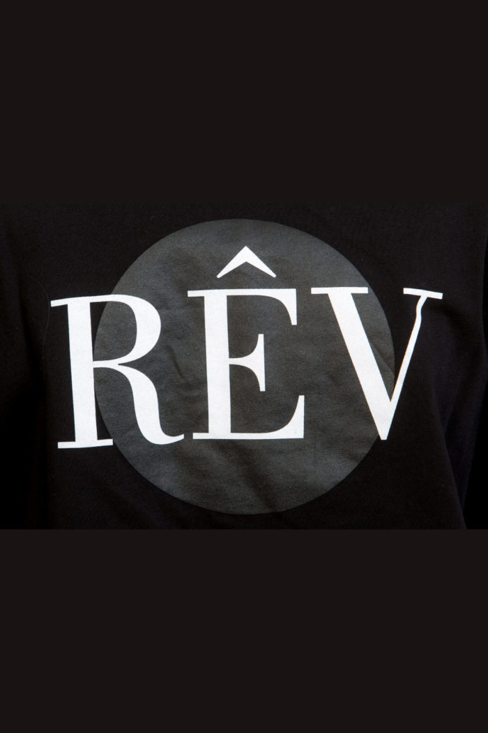 LERÊVERIES - T-shirt Donna Oversize Logo RÊV Colore Nero - D