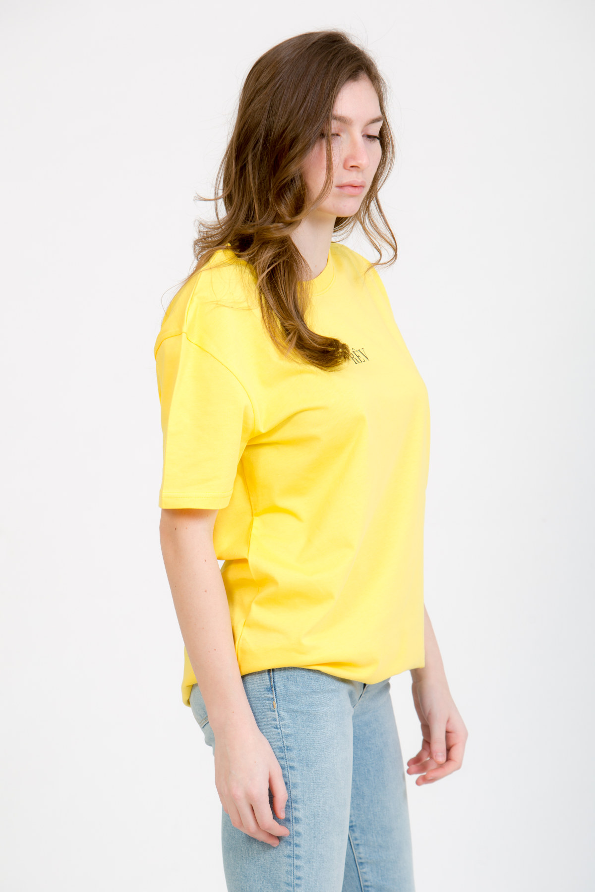 LERÊVERIES - T-shirt Oversize Donna RÊV Manifesto Colore Giallo - C
