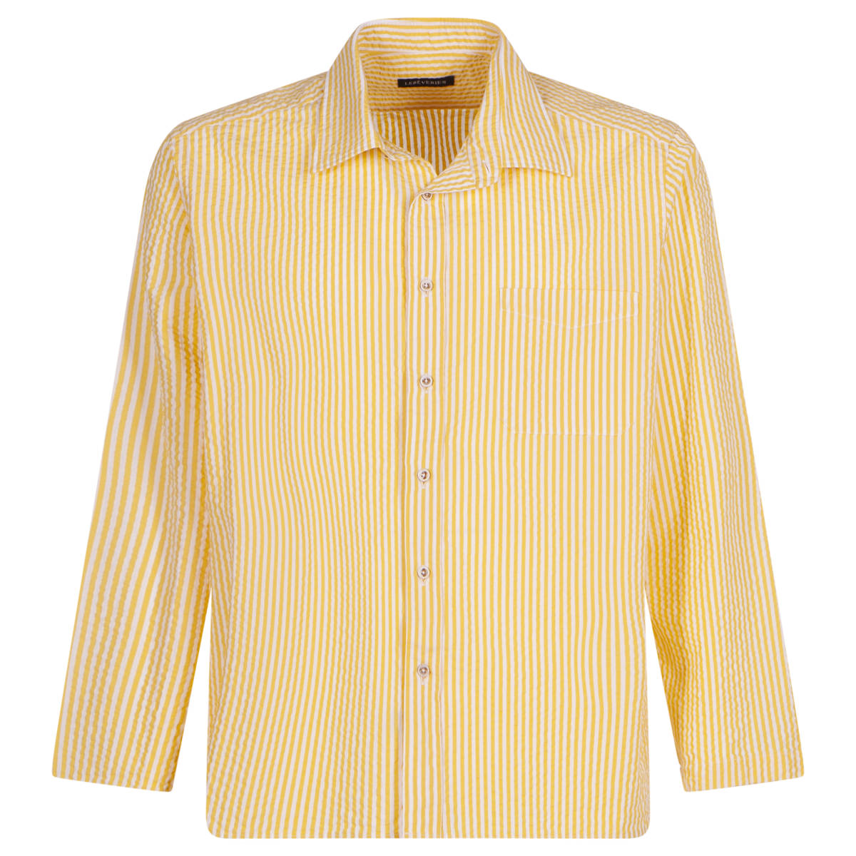 WILFRED Camicia a righe gialla goffrata Lereveries - front